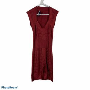 French Connection red bandage fitted dress 2